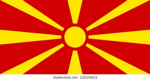 National flag of Macedonia.. Background  with flag of Macedonia.