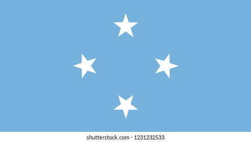 National flag of  Micronesia. Background  with flag of Micronesia.