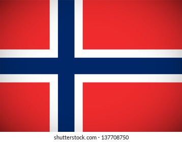 National flag of Norway with correct proportions and color scheme (raster illustration)