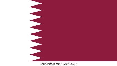 National flag of Qatar. Qatar flag. Full size.