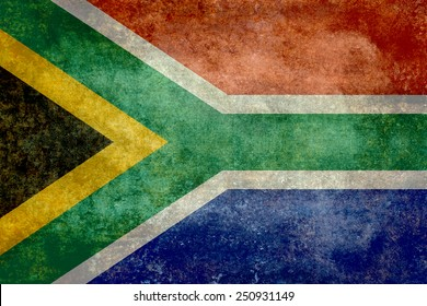 National flag of South Africa - Vintage version