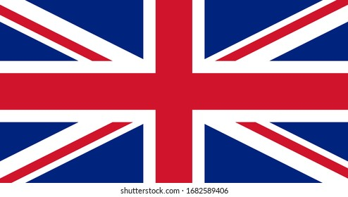 The national flag of the United Kingdom. UK flag.