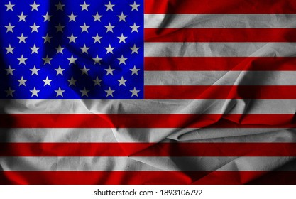 The national flag of the United States of America.