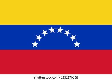 National flag of Venezuela. Background  with flag of Venezuela.