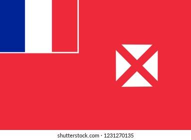 National flag of Wallis and futuna.  Background  with flag of  Wallis and futuna.