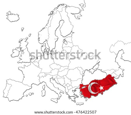 national turkey flag map europe isolated stock illustration Map of Armenia Today the national turkey flag in the map of europe isolated on white background