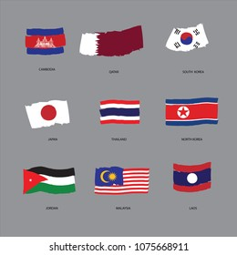Nationnal Flag of Asia