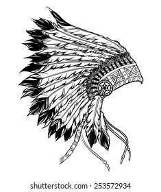 Native american indian chief headdress.