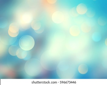 Natural blue blurred background.Cyan turquoise fresh colorful blur.Water colors backdrop.Summer resort wallpaper.