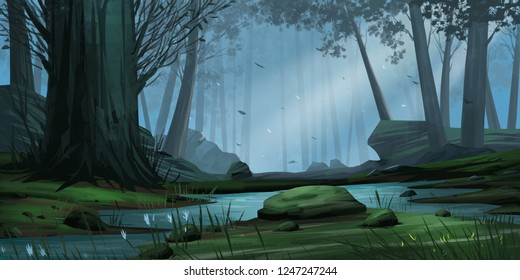 Royalty Free Forest Cartoon Images Stock Photos Vectors