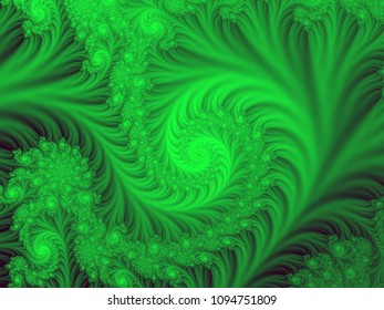Natural green nature fractal pattern
