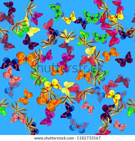 Natural Hand Drawing Background Desert Plants Stock Illustration