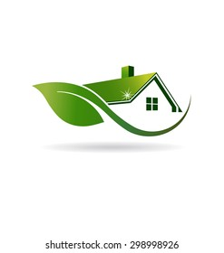 Natural House cleaning logo