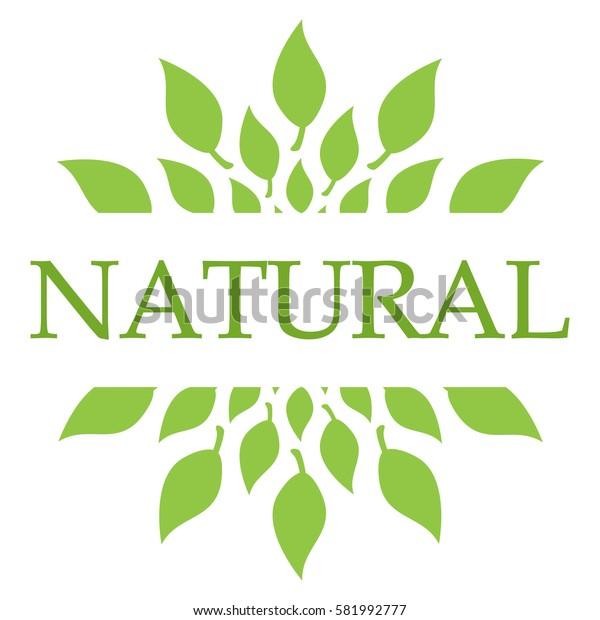 Natural Leaves Green Circular