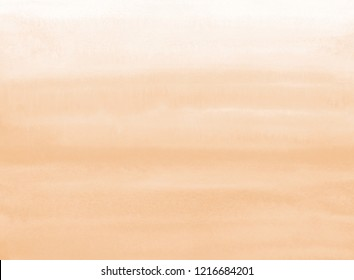 Natural, rose beige watercolor horizontal gradient background with parallel striped stains. Human skin, foundation color painted watercolour texture. Pastel, soft brown aquarelle rectangle template