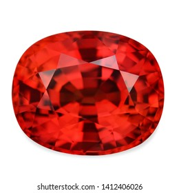 Natural ruby blood-red clear stone