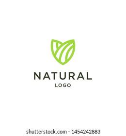 naturat logo design vektor abstrak