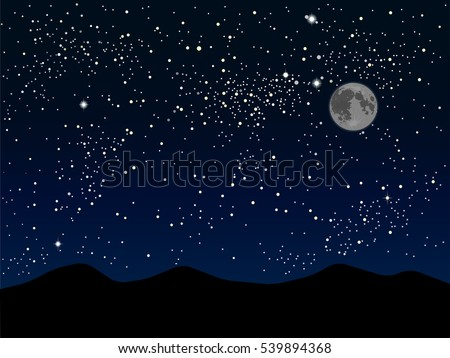 Nature Background Starry Night Sky Stars Illustration De Stock De