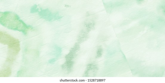 Nature Concept. Leafy Green Splashes. Stylish Nature Concept. Batik Modern Texture. Watercolor Background. Gentle Organic Design. Shibori Dyeing. Grassy Emerald Color.