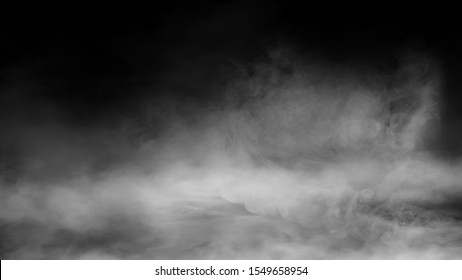 nature fog on black background