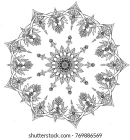 nature mandala ornament
