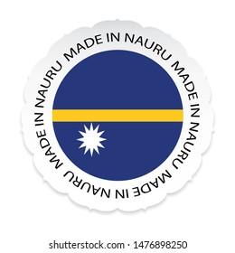 Nauru Flag .Nauru national official colors, Made in Nauru a white background.