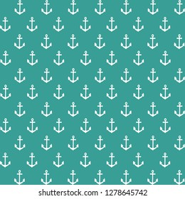 Nautical anchor background. Coastal pattern. Digital scrapbook paper