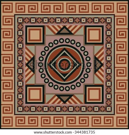 navajo art boho seamless pattern ethnic stock illustration 344381735