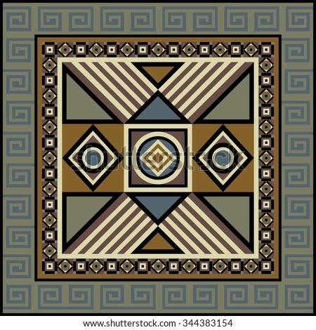 navajo art boho seamless pattern ethnic stock illustration 344383154