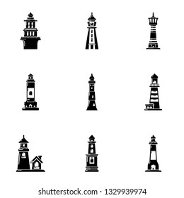 Navigation sign icons set. Simple set of 9 navigation sign icons for web isolated on white background