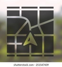 navigator icon on blurred background