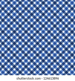 Navy Blue Gingham Fabric Background that is seamless and repeats