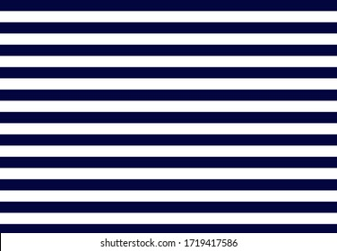 Navy blue and white stripes seamless pattern. Yacht style design. Striped texture background. Template for prints, wrapping paper, fabrics, covers, flyers, banners, posters and placards.