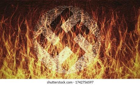 nazi flag on fire digital illustration high resolution
