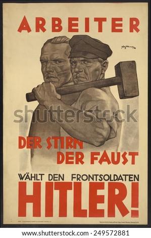 Nazi Party Poster German Presi...
