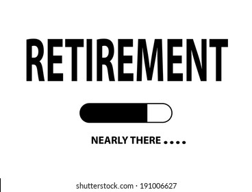 """Nearly There Illustration """"Retirement"""""""