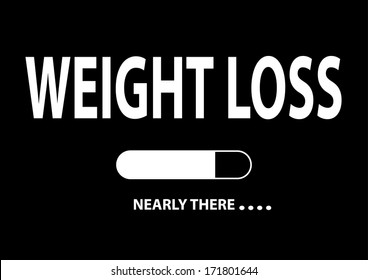 """Nearly There Illustration """"Weight Loss"""""""