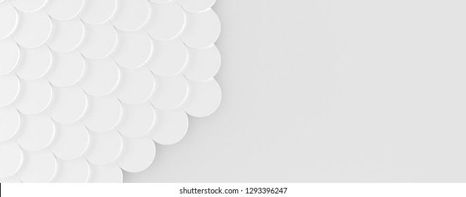 Neat Wide White Background with Copy Space (3D Illustration)