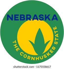 nebraska: the cornhusker state | digital badge
