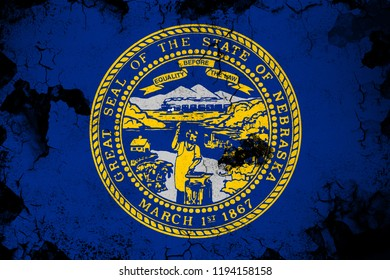 Nebraska grunge and dirty flag illustration. Perfect for background or texture purposes.