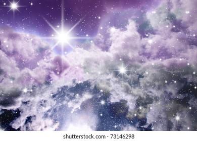 Nebula detail taken through telescope