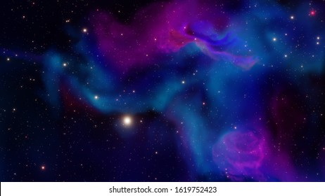 Nebula Galaxy Space Wallpaper 4k Uhd Stock Illustration 1619752423