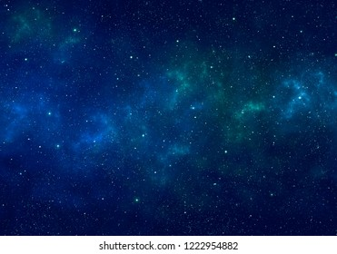 Nebula and stars in night sky. Space background.