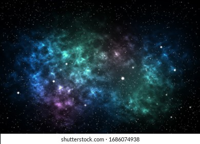 Nebula and stars space background.Abstract beautiful light.Elements of the image were furnished by NASA.
