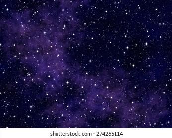 Nebulae and Stars Background