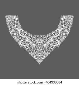Neck print floral design