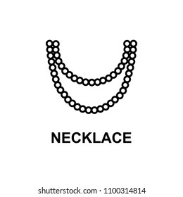 necklace icon. Element of women accessories with names icon for mobile concept and web apps. Thin line necklace icon can be used for web and mobile. Premium icon on white background
