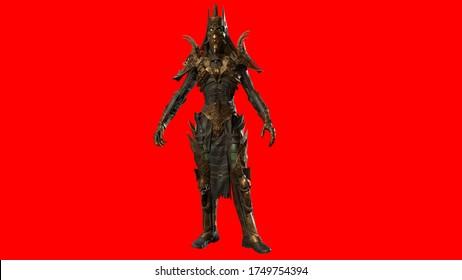 Necromancer, render 3D model on the background