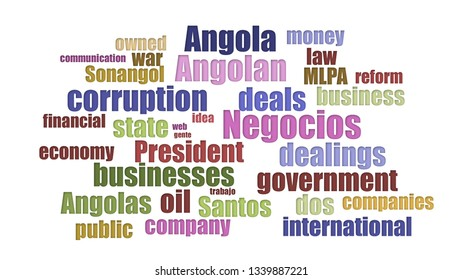 Negocios Tagcloud In Rows Isolated On White