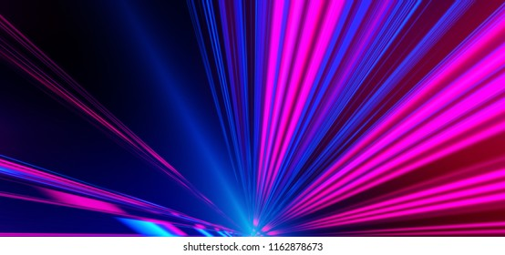 Neon Background Abstract Lines Laser Beams Stock Illustration
